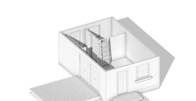 Проект будинку 50 кв м з мансардою