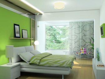 Спальня в зелених тонах (79 фото): шпалери темного кольору в дизайні інтер'єру. Які штори і покривала підійдуть для салатовою кімнати? Як смарагдові стіни поєднуються з білими і бежевими відтінками?