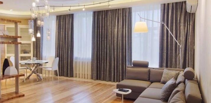 Як підібрати штори в зал? 61 фото Поради дизайнера. Який колір тюлю вибрати у вітальню? Як правильно підбирати фіранки до інтер'єру?