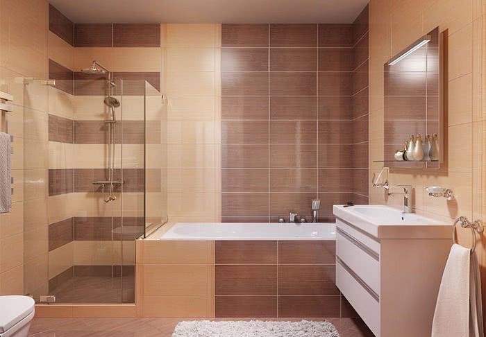 Варианты укладки плитки в ванной: схемы и фото раскладки